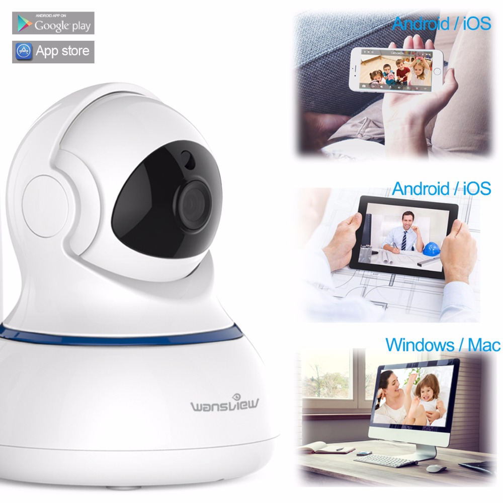 Wansview 1080P Wireless IP Camera WiFi HomeSecurity Surveillance Camera  Baby Monitor Pan/Tilt Two-Way Audio Email Alarm RTSP P2P