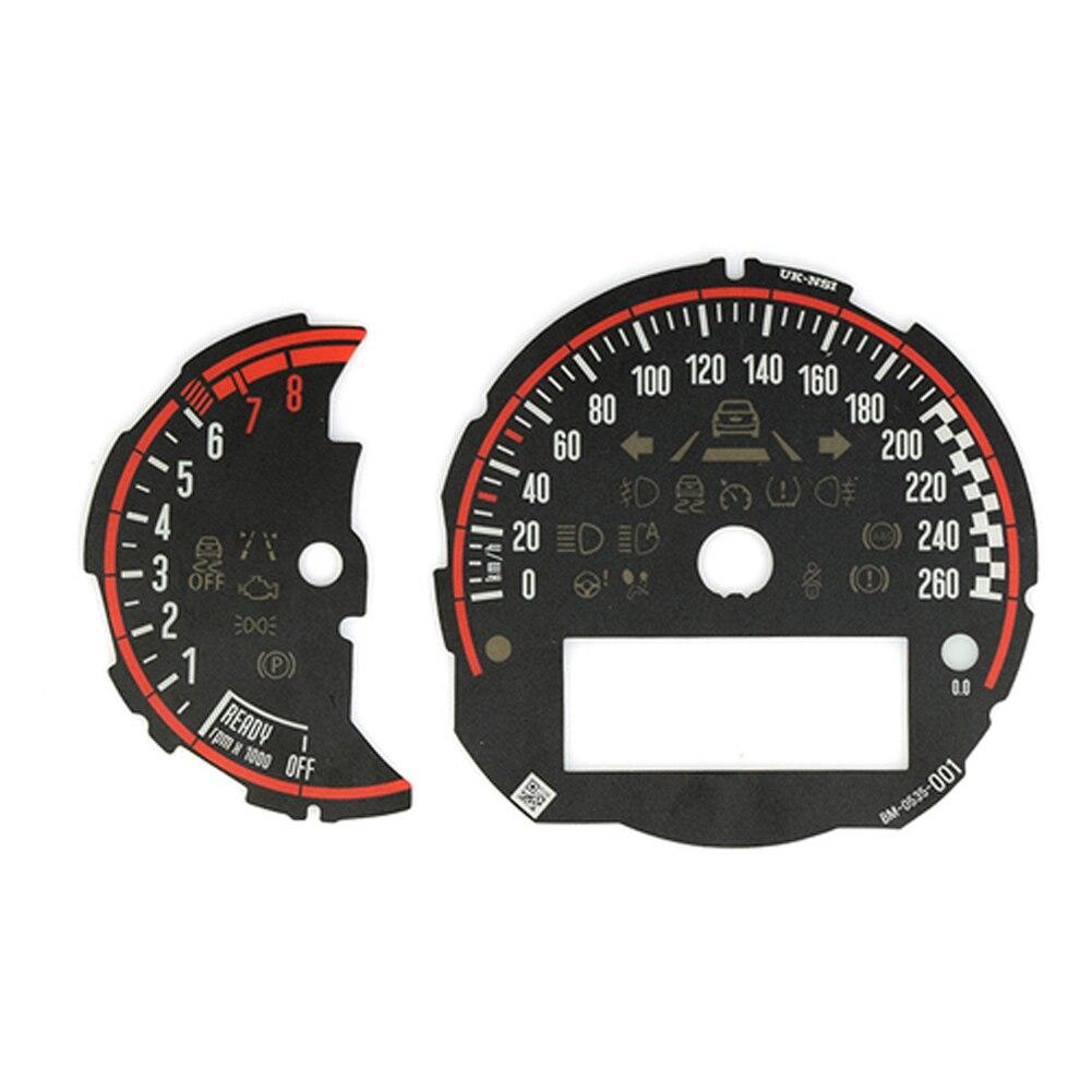 Indicateur de vitesse autocollant indicateur de vitesse tachymètre Faces pour Mini Cooper F54 F55 F56 F57 F60 2014-2019