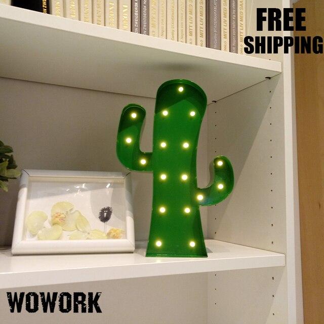 Weihnachtsbeleuchtung Mit Batteriebetrieb.Us 33 4 Kaktus Vintage Festzelt Lichter Mini Led Weihnachtsbeleuchtung Metall Schreibtisch Lampe Cacti Lichtwerbung Wandleuchten Batteriebetrieb In