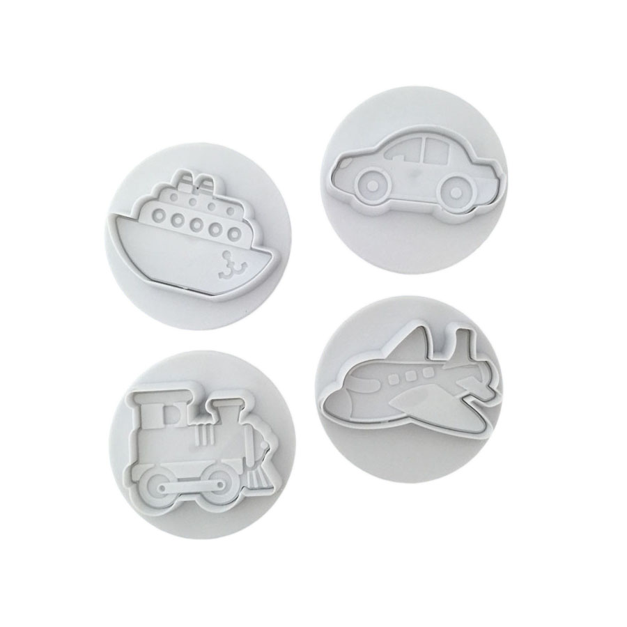 Home & Garden Imported From Abroad Civil Traffic Tools Fondant Biscuits Cutter Decorating Sugarcraft Gum Paste Tools Cupcake Kitchen Cookie Accessories 020167 Bakeware