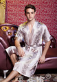 2015 Популярны Весной и летом шелковый халат мужской халат с коротким рукавом халаты осенью тонкие шелковые пижамы кимоно плюс размер L-XXXL