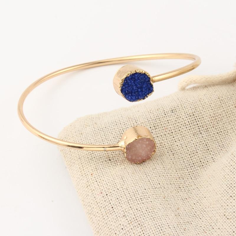 Dayoff Jewelry Resin Hand Bangle Party Gift Charms Bracelets Bangles Women Boho Ajustable Cuff Bracelet B414