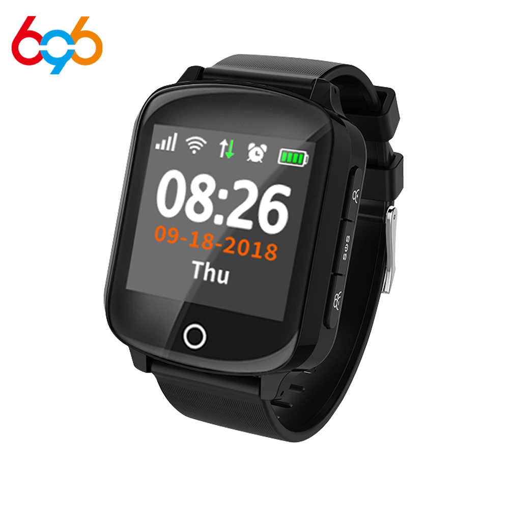 696 D200 elderly smart watch GPS+WIFI heart rate blood pressure sleep monitoring fall alarm one key call for help elderly watch