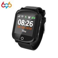 696 D200 elderly smart watch GPS+WIFI heart rate blood pressure sleep monitoring fall alarm one key call for help elderly watch