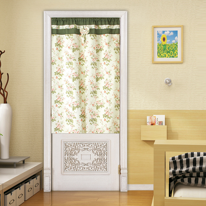 Curtain Cute Living Room Valances For Your Home: Flower Half Curtains Door Window Decor Curtains For