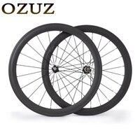 OZUZ 700C 50mm Klammer Carbon Rad Carbon-rennrad Fahrrad Standard Rad Novatec 372 3 Karat Matte Glänzend Hoch qualität Laufradsatz