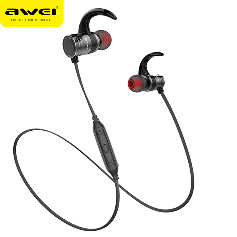 Awei AK7 Wireless Sport Auriculares Bluetooth Earphone Stereo Headphones Headset kulakl k Megnetic Cordless hifi fone de ouvido showkoo stereo headset bluetooth wireless headphones with microphone fone de ouvido sport earphone for women girls auriculares