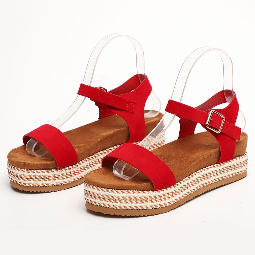 YOUYEDIAN Wedges Shoes For Women Sandals Plus Size High Heels Summer Shoes 2019 Flip Flop Chaussures Femme Platform Sandals #N3