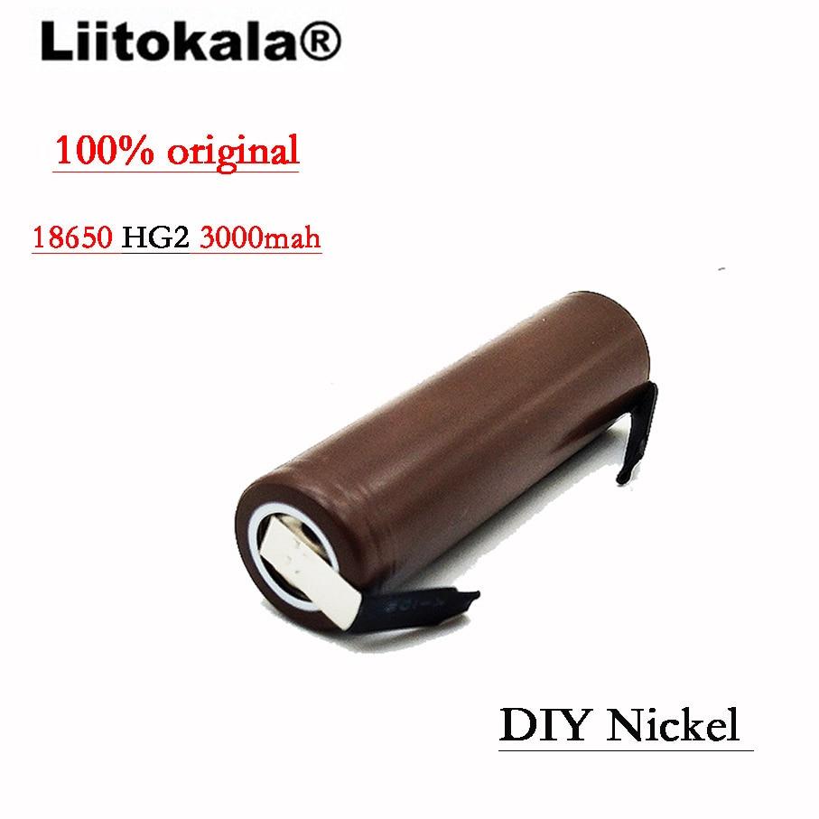 Image 3 - 2019 8PCS/Lot Liitokala  HG2 18650 3000mAh battery 18650 HG2 3.6V discharge 30A, dedicated DBHG2 batteries + DIY Nickelliitokala 18650liitokala batterylg hg2 - AliExpress