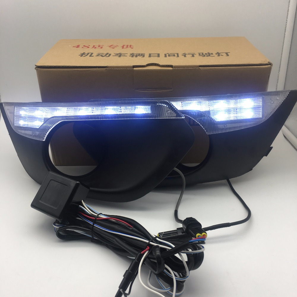 LED DRL Daytime Running Light For Changan CS35 2013 2014 2015 2016 have yellow turning and dimmer function цена