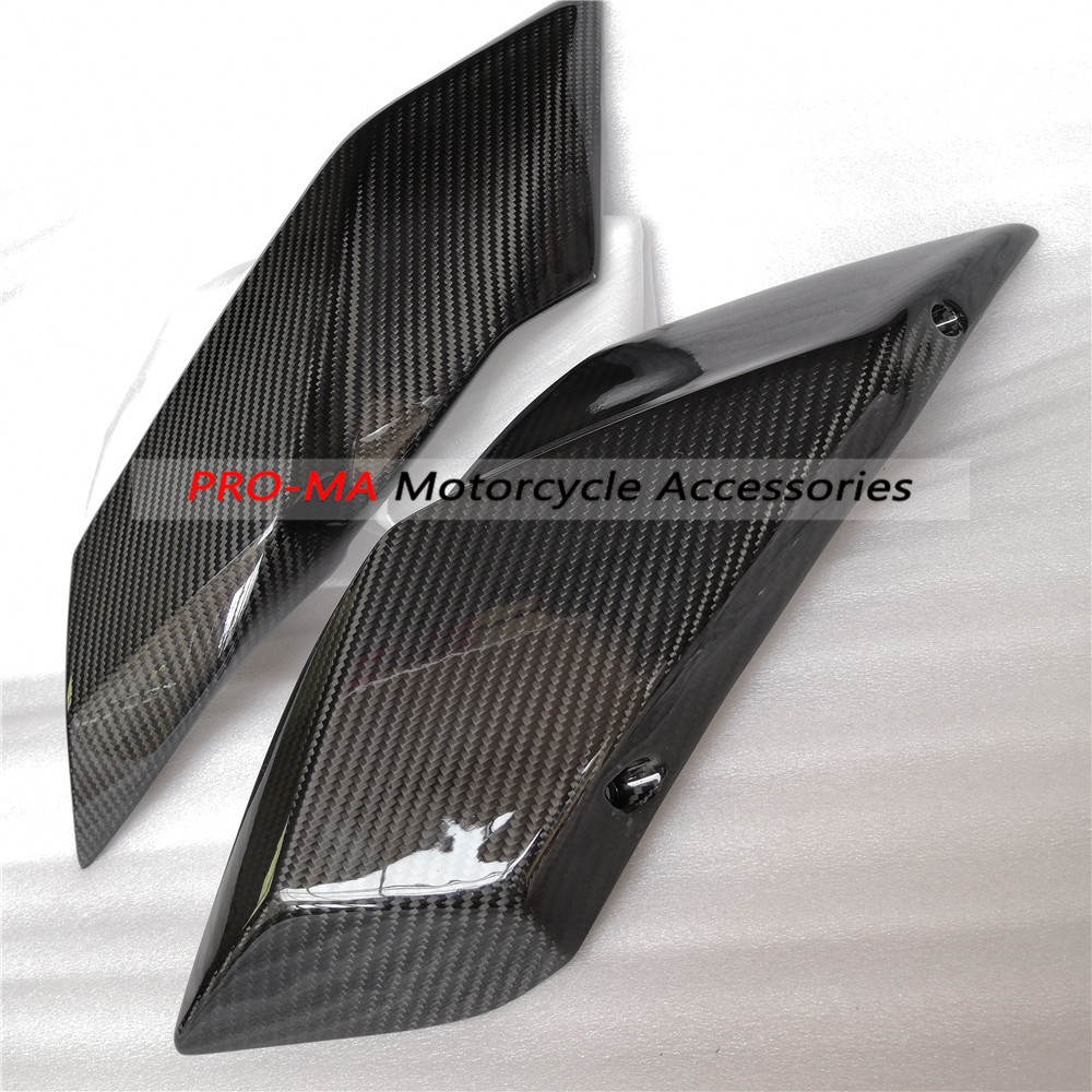 DTRAD Motorcycle Seat Side Panels in carbon fiber For Kawasaki H2 2015 2017 Twill