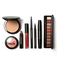 FOCALLURE 8 Pcs Makeup Suit Set Beginners Brows Pen Eyeshadow Powder Lip Eyeliner Mascara Blush Lip