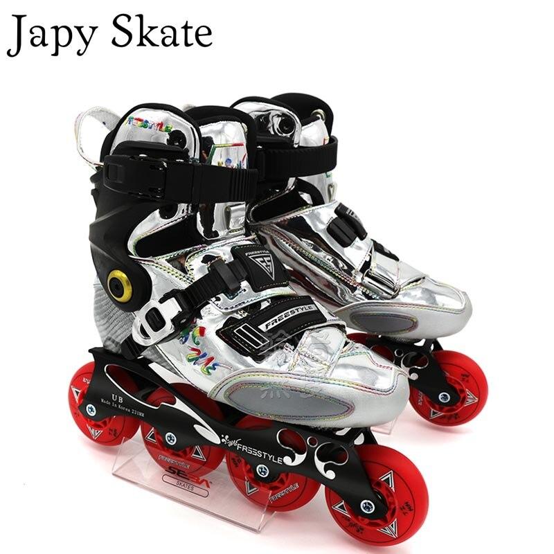 Patin Japy Original Freestyle YJS fibre de carbone professionnel Slalom patins à roues alignées patin à roulettes coulissant Patine libre