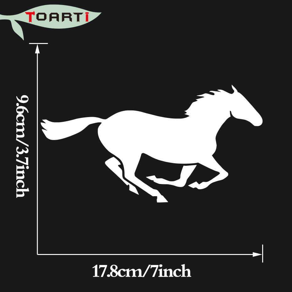 17 8 9 6cm Running Horse Vinyl Decals Car Sticker Silhouette Styling Decal Decorative Computer Stickers
