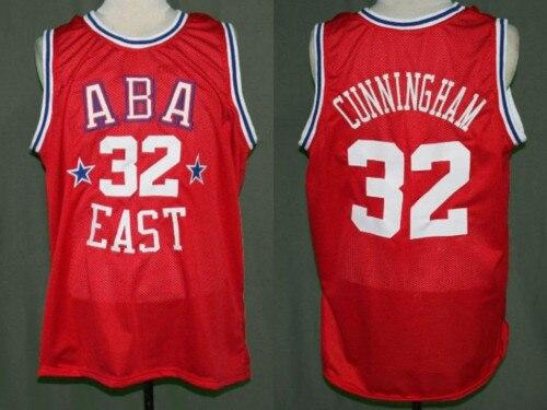 Billy Cunningham #32 ABA rétro All Star basket Jersey broderie surpiqué personnaliser tout nom et numéro