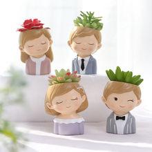 Милые парные плантаторы набор 4 шт креативные суккулентные растения