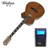 40 дюймов Акустическая гитара Picea Asperata деревянный гриф палисандр с гитарными струнами