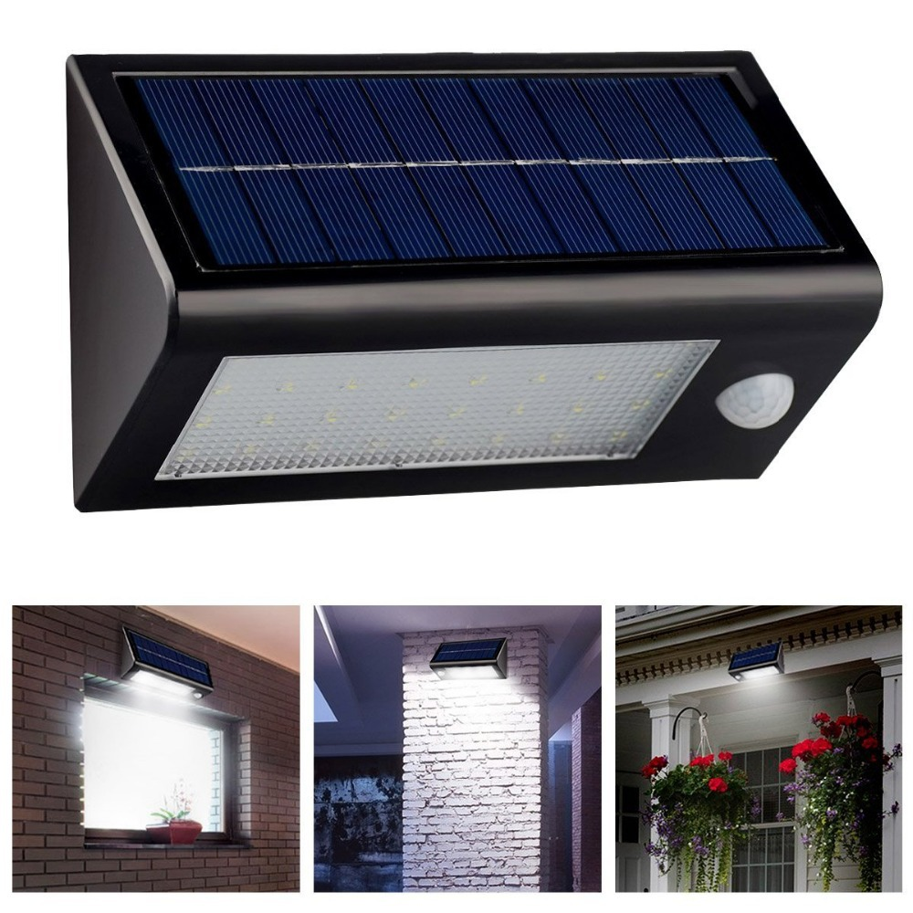 Waterproof Solar Ed Outdoor Motion Sensor Light 32 Led Stair Step Stairway Path Landscape Garden Floor Wall Patio Lighting