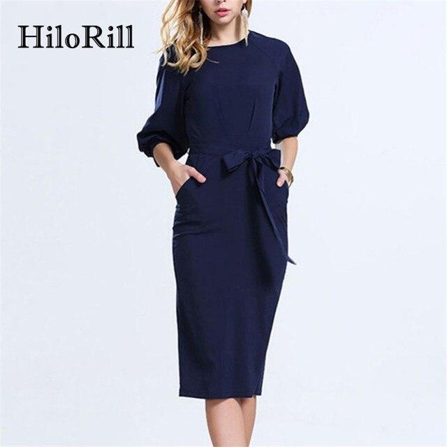 Blauwe jurk chiffon