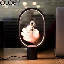 Европейская креативная Магнитная настольная лампа, овальная настольная лампа, Индукционная лампа для гостиной, спальни, украшение, Новинка