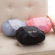 Women Portability Travel Pouch Cosmetic Bag Capacity Drawstring Wash Bags Makeup Organizer Storage Bag Travel Make Up Bag