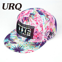 URQ Brand Floral And Leaf Embroidery Letter Baseball Hat Cap For Women And Men Spring Summer