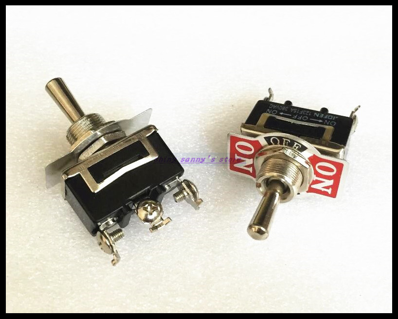 5pcs/Lot 3-Pin 3 Position ON-OFF-ON Spring Return Momentary Switch 15A 250VAC Toggle Switch 123F Brand New