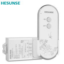 Free shipping  Hesunse New 220V 433MHZ  1 Way Wireless Smart Remote Control Switch with Remote control Through Walls motorlift 84330e 84335e 84334e replacement remote control 433mhz dhl free shipping