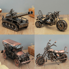 Retro manual iron art motorcycle accessories car models, birthday parties, family and friends festivals children's holiday gifts