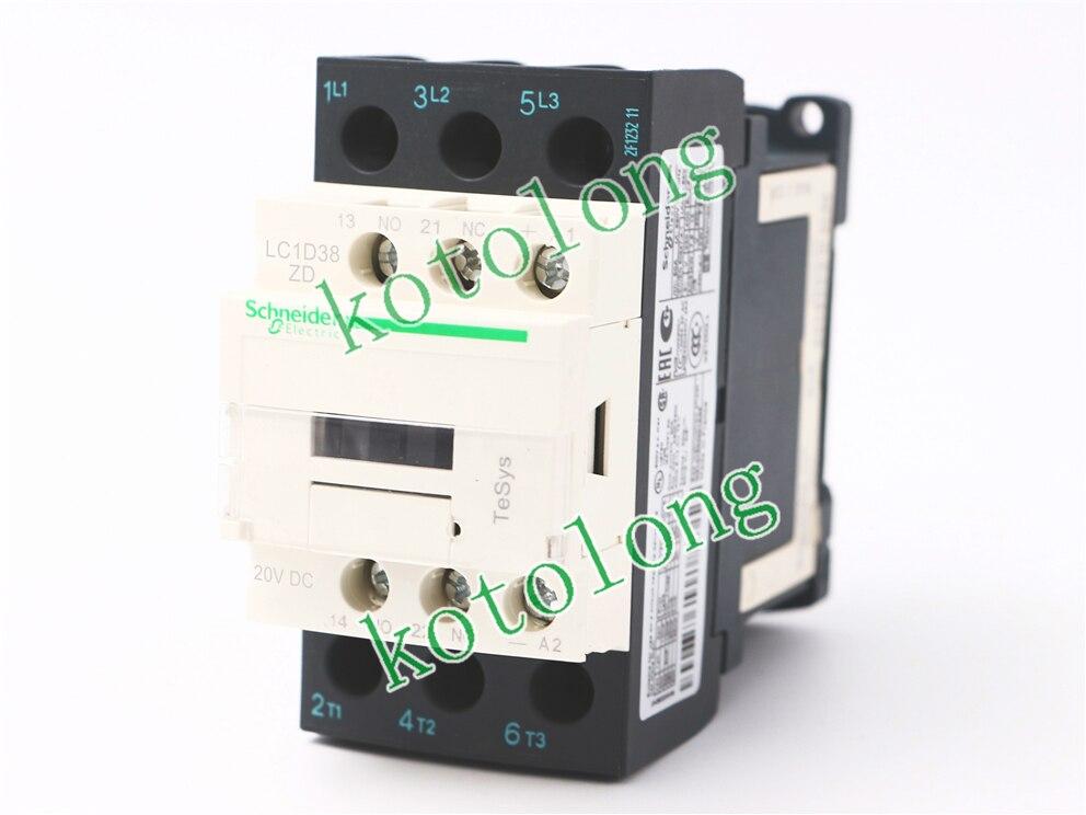 DC Contactor LC1D38 LC1-D38 LC1D38ZD LC1-D38ZD 20VDC lc1d series contactor lc1d38 lc1d38kdc 100v lc1d38ldc 200v lc1d38mdc 220v lc1d38ndc 60v lc1d38pdc lc1d38qdc lc1d38zdc 20v dc