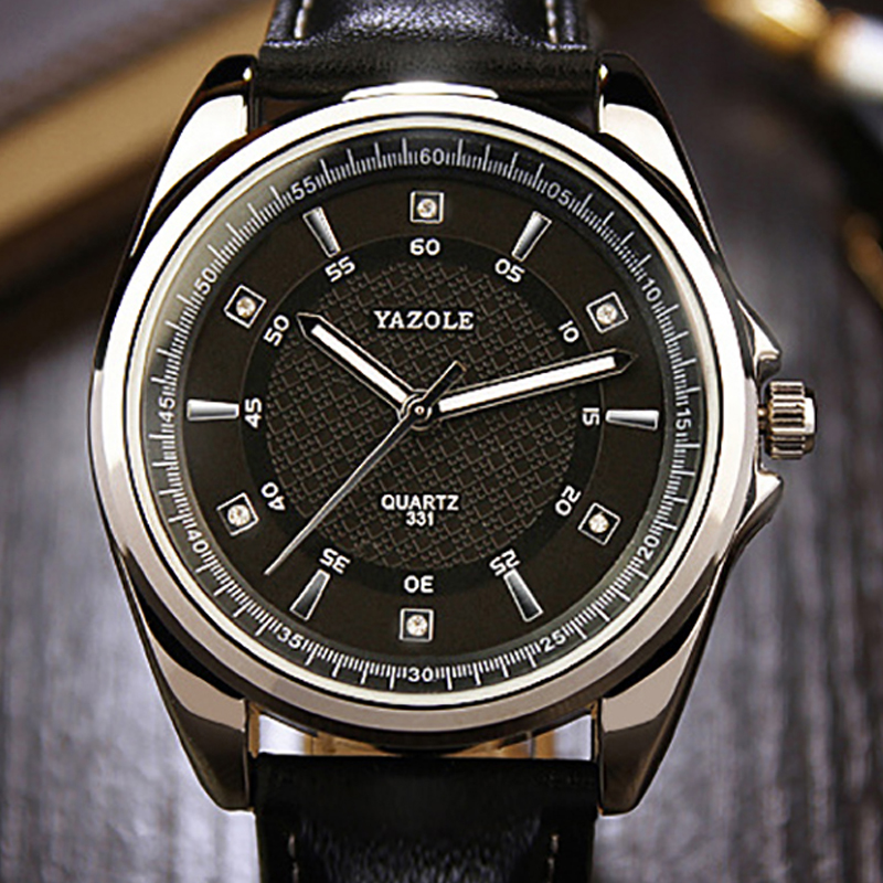 YAZOLE Men Watch Top Brand Luxury Famous New 2016 Dress Male Clock Quartz Watch Wrist Business Quartz-watch Relogio Masculino yazole new watch men top brand luxury famous male clock wrist watches waterproof small seconds quartz watch relogio masculino
