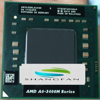 AMD A6-Series A6-3400M A6 3400M 1.4 GHz Quad-Core Quad-Thread CPU Processor AM3400DDX43GX Socket FS1
