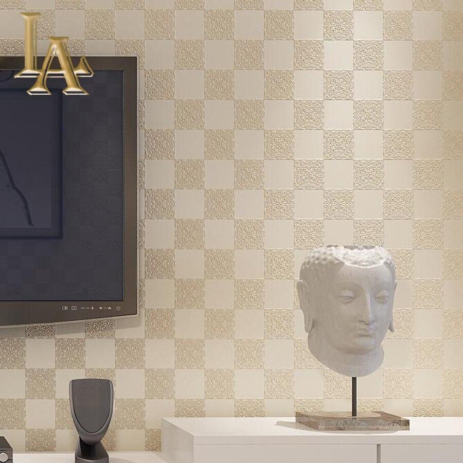 Us 16 93 49 Di Sconto Classic Goffrato Texture Cinese Plaid Wallpaper Per Pareti Di Disegno 3d Carta Da Parati Soggiorno Camera Da Letto Arredamento