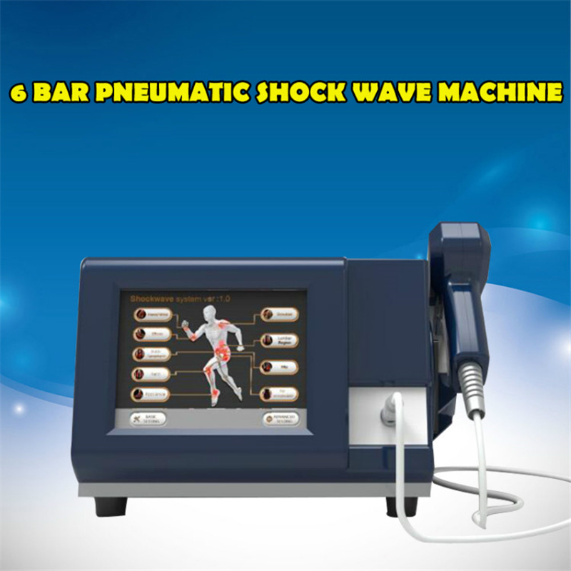 6 Bar Shockwave Extracorporeal Shock Wave Therapy Pneumatic Shockwave Therapy For Shoulder Pain Treatment ED Treatment Machine