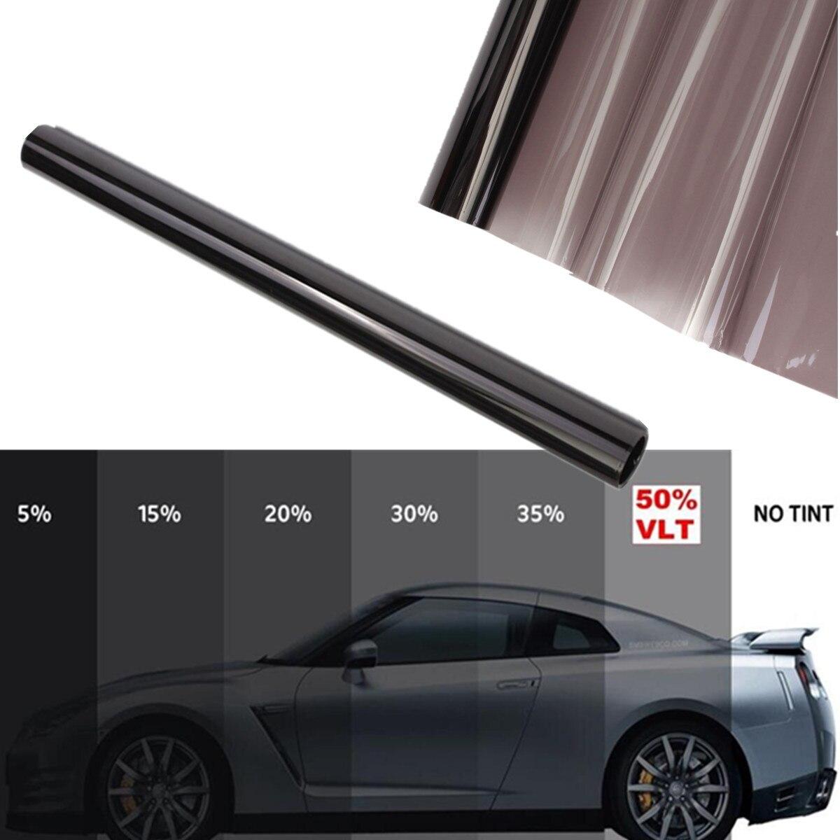 Autoleader 50cm x 6m preto escuro filme matiz da janela do carro vidro 1%-50% rolo verão carro auto casa windows vidro matiz proteção solar