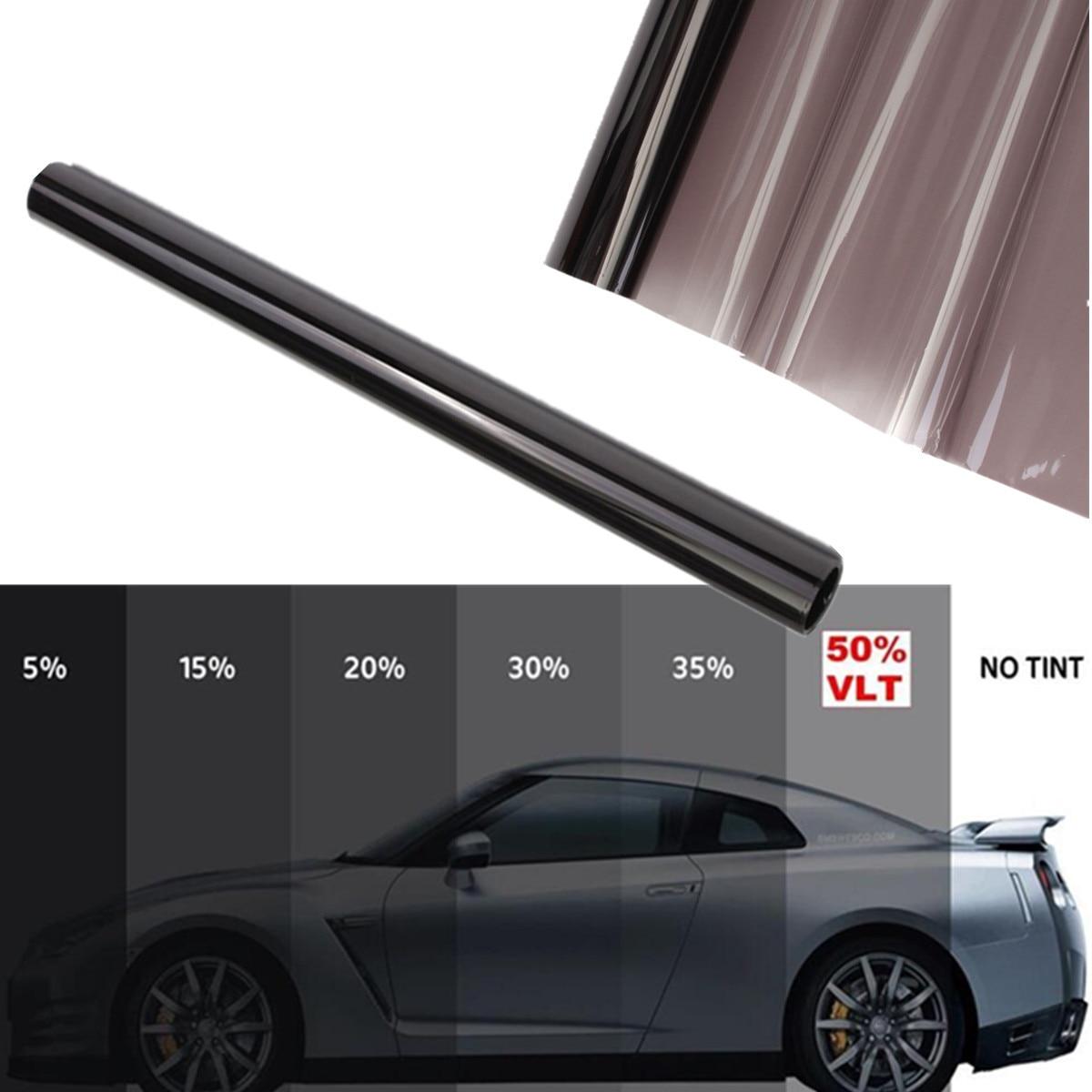 Autoleader 50cmx6m Dark Black Car Window Tint Film Glass 1percent-50percent Roll Summer Car Auto Home Windows Glass Tinting Solar Protection