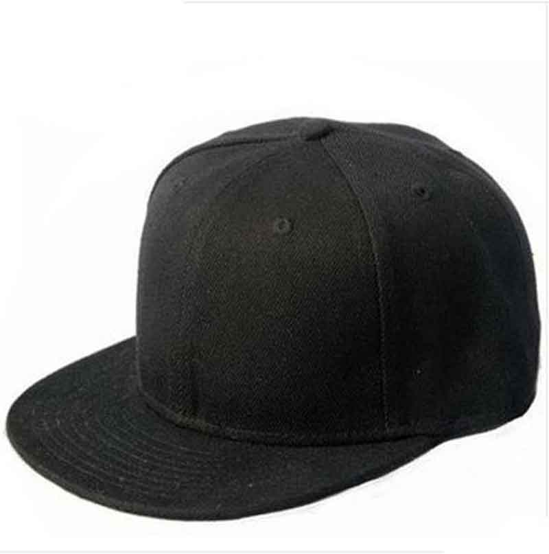 Casual Men Women Black Snapback Hats Unisex Hip Hop Adjustable Baseball Cap Hats-in Caps from Apparel Accessories on Aliexpress.com