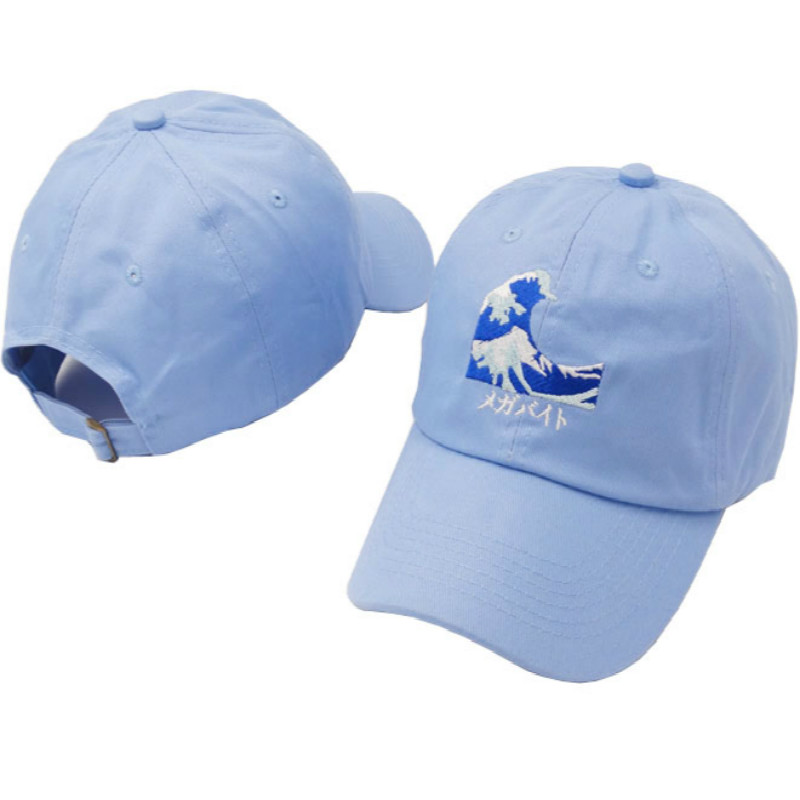 ab4423bae5b Which in shower Embroidery Wave Dad Hat Japanese Baseball Cap For Women Men  Casual Curved Breathable Snapback Sun Hats Bone-in Baseball Caps from  Apparel ...