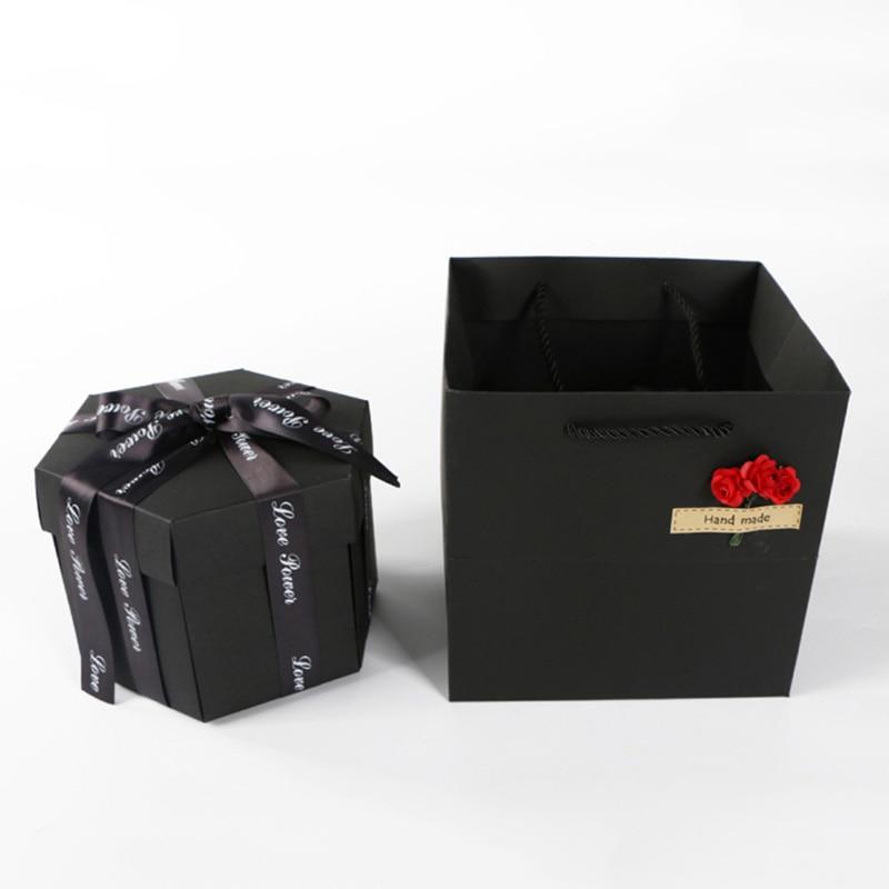Unique Explosion Scrapbook Novelty DIY Photo Album Box Innovative Photo Gift Box for Valentines Day, Birthday for GirlsUnique Explosion Scrapbook Novelty DIY Photo Album Box Innovative Photo Gift Box for Valentines Day, Birthday for Girls
