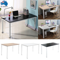 Wooden Metal Computer Desk Laptop PC Table Study Workstation Furniture Home Office Black White MAYITR