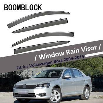 High Quality 4pcs Smoke Window Rain Visor For VW Bora Sedan 2015 2014 2013 2012 2011 2010 2009 ABS Deflectors Guard accessories