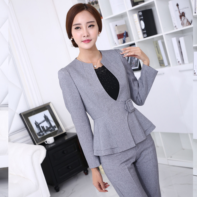 Brilliant 3XL Womens Suits Blazer With Pants New 2015 Fashion Formal Office
