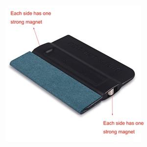 Image 5 - FOSHIO 5pcs Carbon Fiber Vinyl Wrap Film Car Magnet Holder Magnetic Squeegee Tint Scraper Car Sticker Wrapping Install Fixer