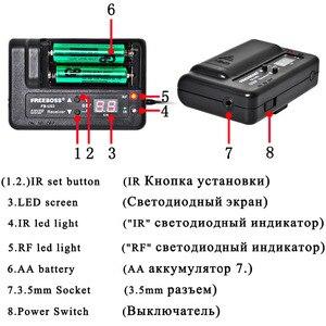 Image 2 - FREEBOSS FB U03 2 1 דרך 100 ערוץ Bodypack משדר אלחוטי מיקרופון מצלמה גיטרה מיקרופון מסיבת קריוקי מיקרופון