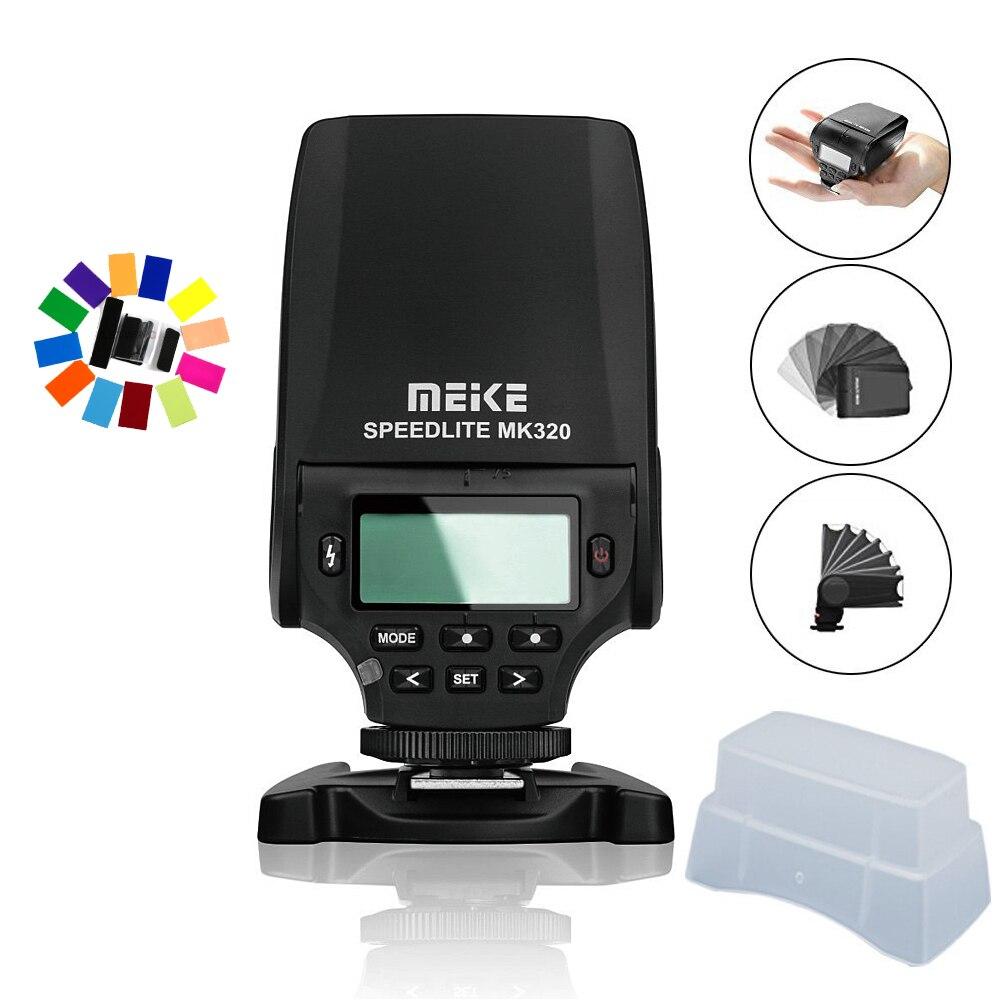 MEIKE MK320 Mini Flash TTL Flash Speedlite For Panasonic Lumix DMC GF7 GM5 GH4 GM1 GX7 G6 GF6 GH3 G5 GF5 GX1 GF3 G3