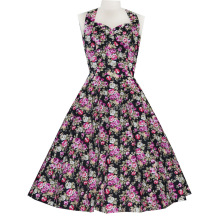 Free shipping 2015 Vintage Women New Style Sexy Dress Print Rockabilly New Sexy Party Dress For Lady