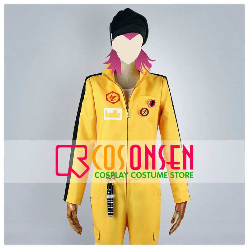 Dangan Ronpa 2 Souda Kazuichi Cosplay Costume Yellow Set