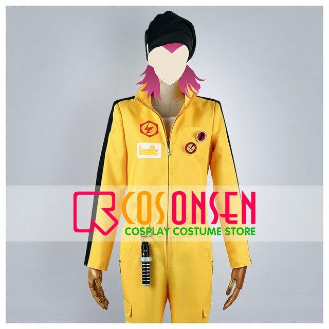 COSPLAYONSEN Dangan Ronpa 2 Kazuichi Soda Cosplay Costume Yellow Set All  Size Custom Made 9351a1087c0e