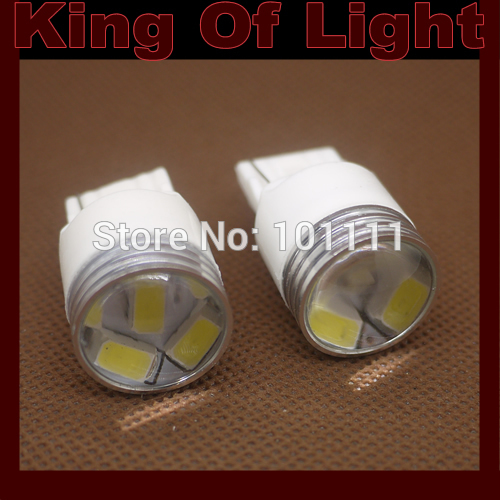 10x High quality led Car styling project lens 7440 6SMD T20 w21w 6 leds SMD 5630 5730 turn signal light Free shipping
