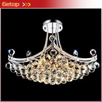 High Quality Modern K9 Lustre Crystal Chandeliers D80 X H50cm Ceiling Pendant Lamp E14 LED Fixture